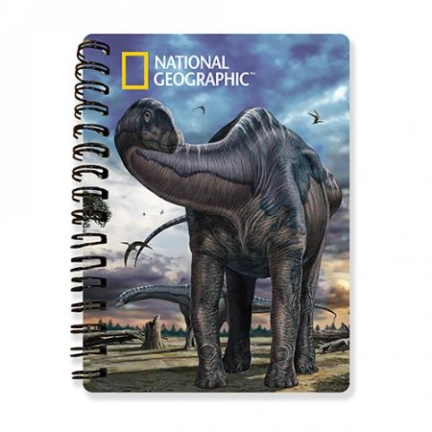 Блокнот 18151 (144шт) динозавры,15см,3Dкартинк,на пружине,клетка,в кульке,24шт в дисплее, 26-15-10см рис. 1