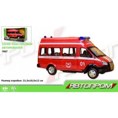 машинка Автопром «Пожарная» 7807