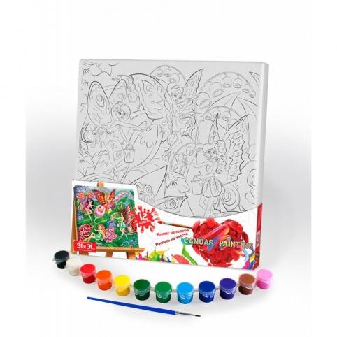 """Креативна творчість """"Розпис на полотні """"Canvas Painting"""" 31см*31см с.5 №5 феї"""