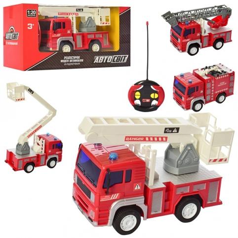Машина AS-2186  (15шт) АвтоСвіт,р/у,1:20, 18см, пожарная,свет,3вида, на бат-ке,в кор-ке,30-16-13,5см рис. 1