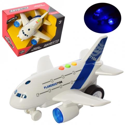 Самолет AS-2155 (48шт) АвтоСвіт, инер-й,1:200, 20см, звук, свет, бат(таб), в кор-ке, 21-13-15см рис. 1