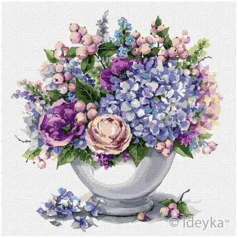 Картины по номерам - Цветочный микс 30*30 см (КНО2954)