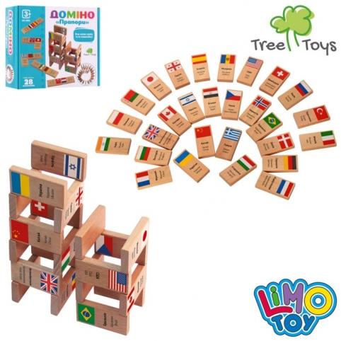 Дерев'яна іграшка Доміно MD 2895 28 блоків, прапори
