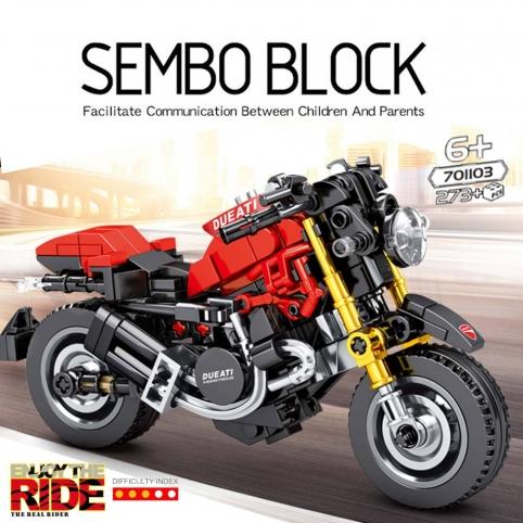 Конструктор SEMBO MOC Technic, уличный гоночный автомобиль