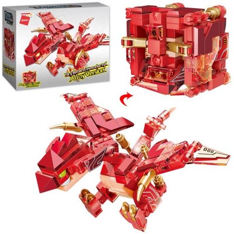 Конструктор Qman 41211 2в1, дракон+куб,