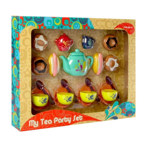 Посуда P8325 (30шт) чайный сервиз на 4персоны, сладости, сосиска в тесте, в кор-ке, 46,5-37-7см рис. 1