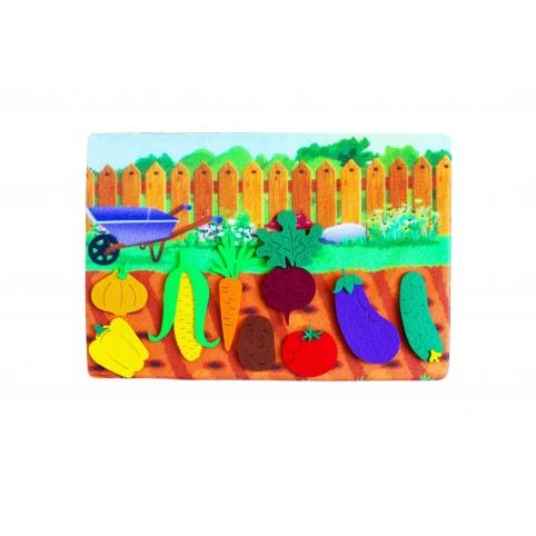 "*Развивающая игра из фетра ""Овощи"" - фото 1"