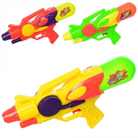 Водяной пистолет MR 0296 (96шт) размер средний, 28см, 3цвета, в кульке, 17-28-5,5см рис. 1