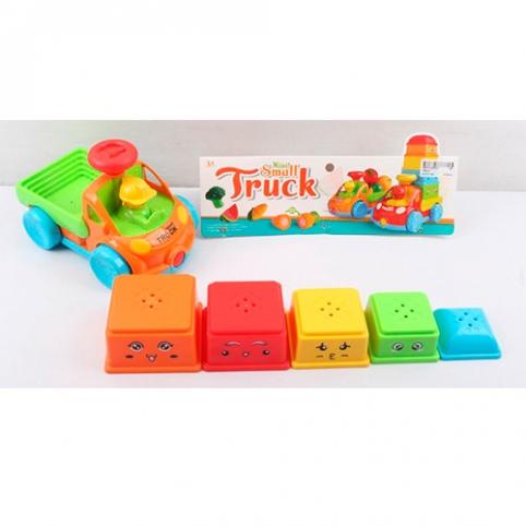 Машина 796-21 (60шт) грузовик19см, формочки 5шт(пирамидка), в кульке,29-27-12см рис. 1