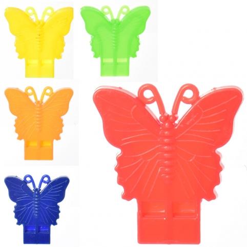 Свисток MR 0272 (2500шт) бабочки, 5см, 5цветов, 100шт в кульке рис. 1
