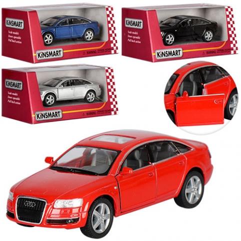 Машинка KT 5303 W (24шт) металл, инер-я,12см, 1:38, рез.кол, открыв двери,4 цвета, в кор-ке,16-7-8см рис. 1