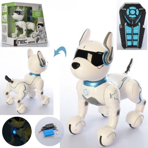 Животное RC 0003 (6шт) р/у,собака29см,муз,свет,реаг. голос,ездит,програм,USBзар,кор,36,5-34,5-20см рис. 1