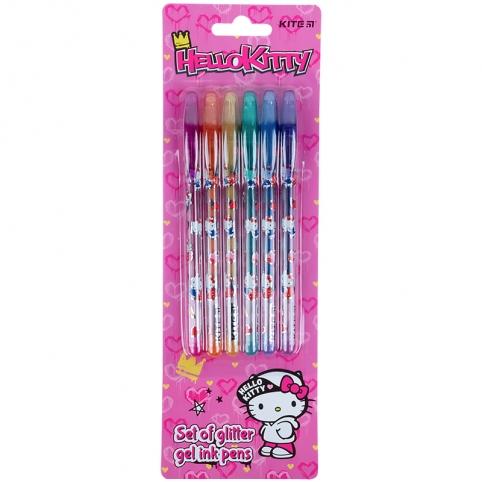 Набір гелевих ручок з гліттером, 6шт. HK