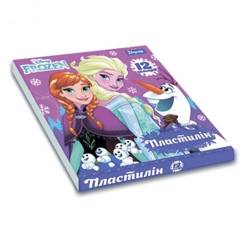 """Пластилін 1Вересня 12 кол. """"Frozen"""" рис. 1"""
