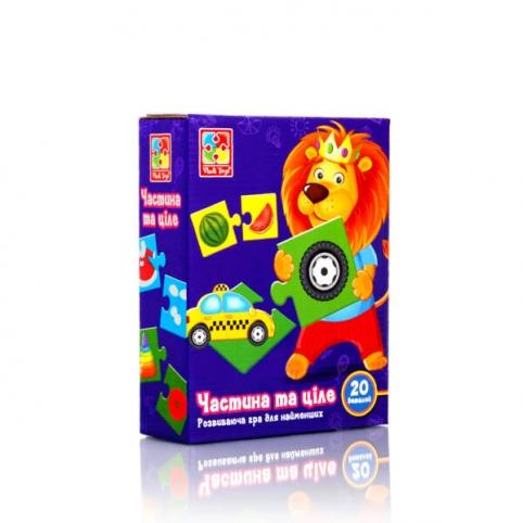 """Гра розвиваюча """"Частина та ціле"""" VT1804-34 (укр) рис. 1"""