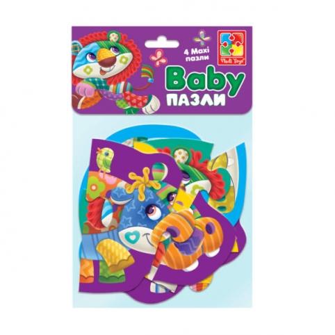"""Бебі MAXI пазли картонні в пакеті """"Диво-зоопарк"""" VT1722-20 рис. 1"""