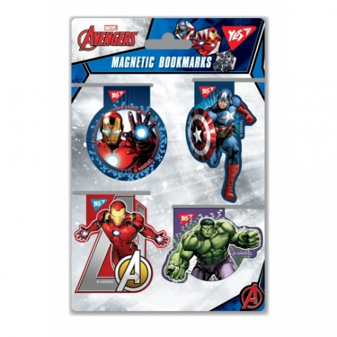 """Закладки магнітні YES """"Marvel"""", висікання, 4шт рис. 1"""