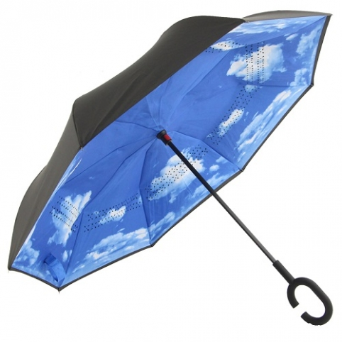Зонт обратного сложения 110см 8сп MH-2713-4 (50шт) рис. 1
