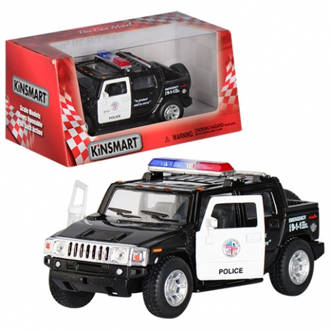 Машинка KT 5097 WP (24шт) металл,инер-я,полиция,13см,1:40,рез.колеса,откр.двери,в кор-ке,16-7,5-8см рис. 1