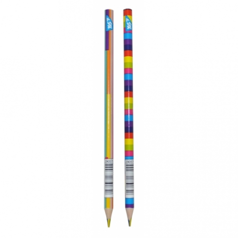 """Олівець YES """"Rainbow"""" з чотирибарвним грифелем, трикутний, заточен. рис. 1"""