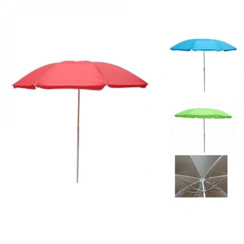 Зонт пляжный ромашка d1.8м серебро (однотон) MH-2686 (12шт) рис. 1