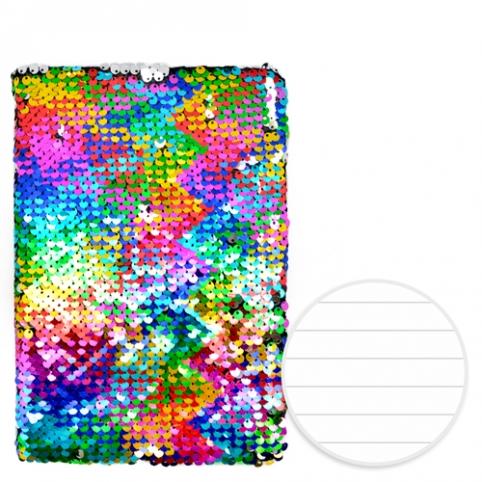 "Блокнот с паетками ""Rainbow"" А5 80л ST01213 (100шт) рис. 1"