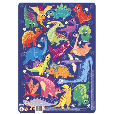 R300181 Пазл з рамкою Динозаври 21*30*0,3см DoDo рис. 1