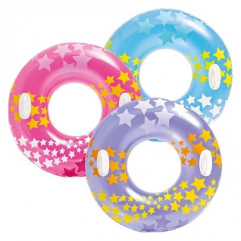 Круг 59256 (24шт) две ручки, звезды, 3 цвета, 91см рис. 1