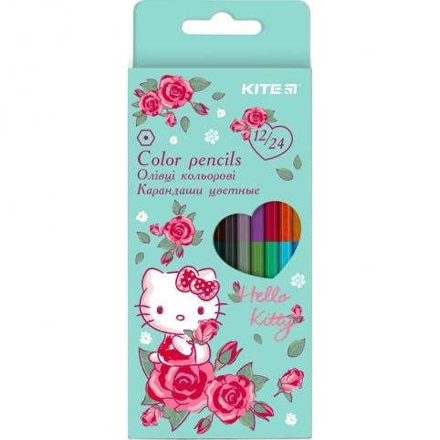 Карандаши цветные двусторонние Kite Hello Kitty HK20-054