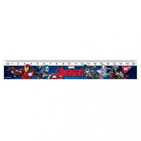 """Лінійка YES 20см """"Marvel"""" рис. 1"""