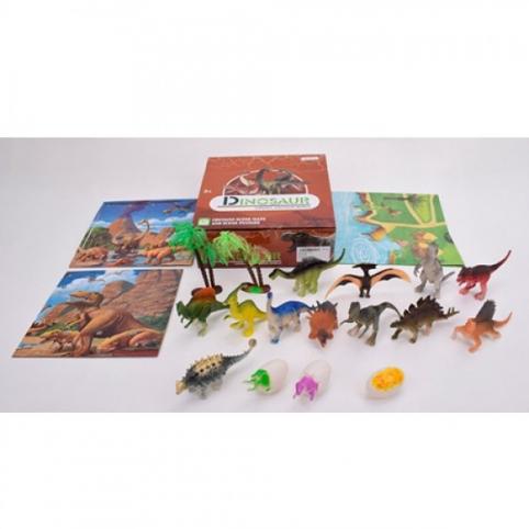 Динозаври 136 12 шт., яйце 3 шт., пазли, ігр.поле, дерево 2 шт., кор., 21-7,5-21 см.