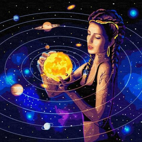Картина по номерам Покоряет вселенную с красками металлик КН9539