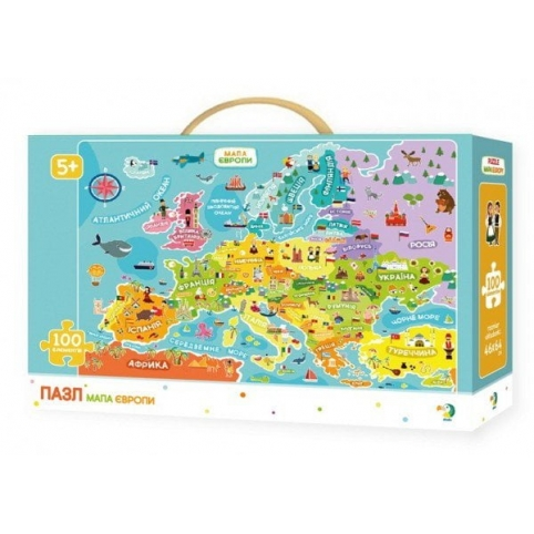 Пазл DoDo Карта Европы  (300129)