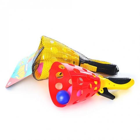 Ловушка M 2019 (72шт) 1шт, пластик, шарики 2шт, 2 цвета, в сетке, 37-15,5-12см рис. 1