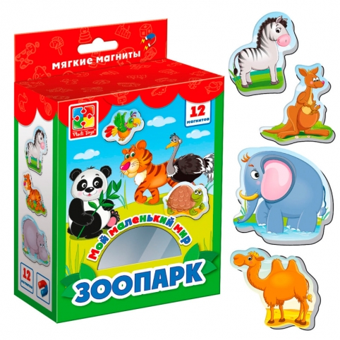 """Гра настільна """"Мій маленький світ """"Зоопарк"""" VT3106-10 рис. 1"""