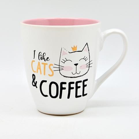 """Чашка """"I love cats&coffee"""" 550мл 10320 (24шт) рис. 1"""
