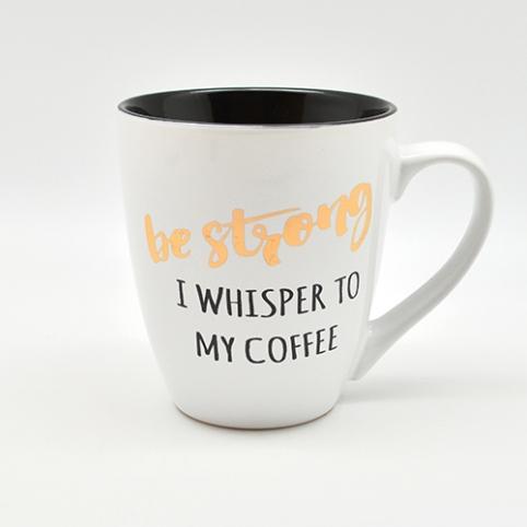 """Чашка """"I whisper to my coffee"""" 550мл 10316 (24шт) рис. 1"""