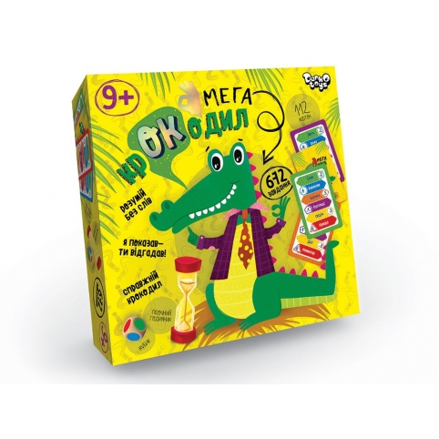 """Настільна гра вікторина """"Мега-крокодил"""" укр (10) рис. 1"""