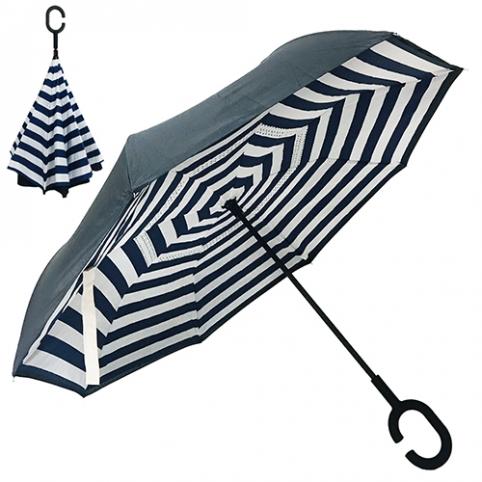 Зонт обратного сложения 110см 8сп MH-2713-17 (50шт) рис. 1