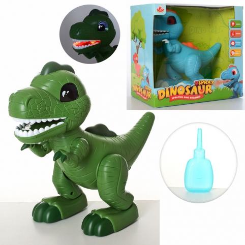 Динозавр 28311 (12шт) муз, звук, свет, дым, ходит, подвиж.дет, 2цв,на бат-ке, в кор-ке, 27-27-15,5см рис. 1