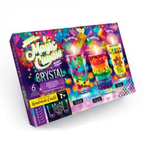"""Набір креативної творчості """"MAGIC CANDLE CRYSTAL"""" парафінові свічки з кристалами рис. 1"""