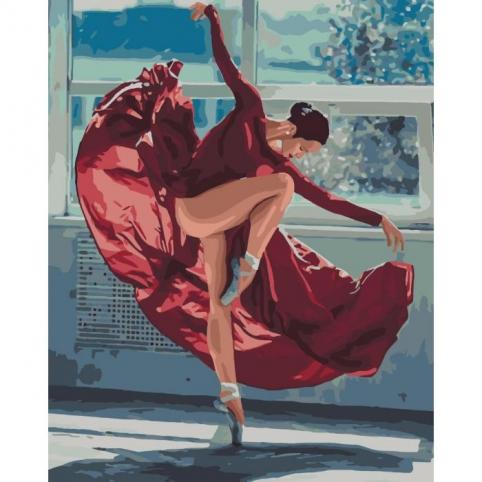 Картина по номерам - Танец огня (КНО4512)