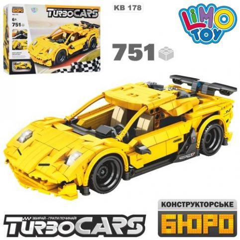 Конструктор Limo Toy Гоночный автомобиль KB 178 751 деталь