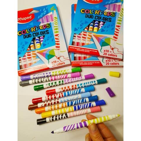 Фломастери COLOR PEPS DUO, 20 кольорів. MP.847010