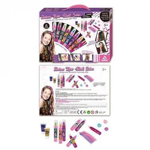 Набор косметики J-3007 мел, блеск для волос, заколочки. Упаковка 35-25-4 см.