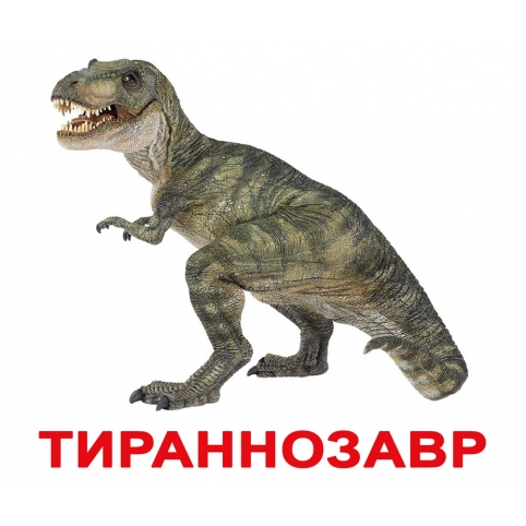 """Карточки Домана """"Динозавры"""" с фактами (рус. язык)"""
