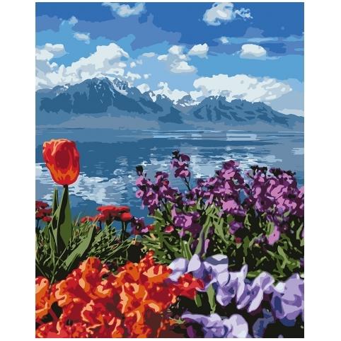 Картина по номерам - Квітковий рай (КНО2278)
