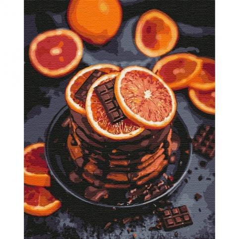 Картина по номерам - Апельсиново-шоколадное наслаждение (КНО5593)