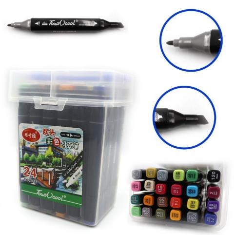 Набор маркеров для скетчинга Touch Cool 24 цветов
