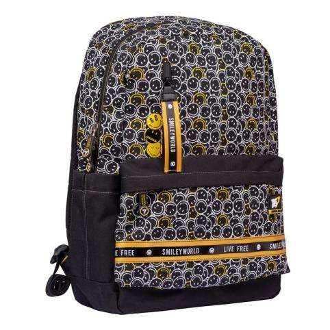 "Рюкзак YES TS-56 ""Smiley World.Black&Yellow"", черный | Источник: //mamazin.com.ua/"
